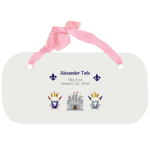 Personalized Girls Wall Plaque - Medieval Castle