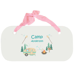 Personalized Girls Wall Plaque - Camp Smores