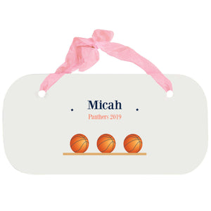 Personalized Girls Wall Plaque - Basketball