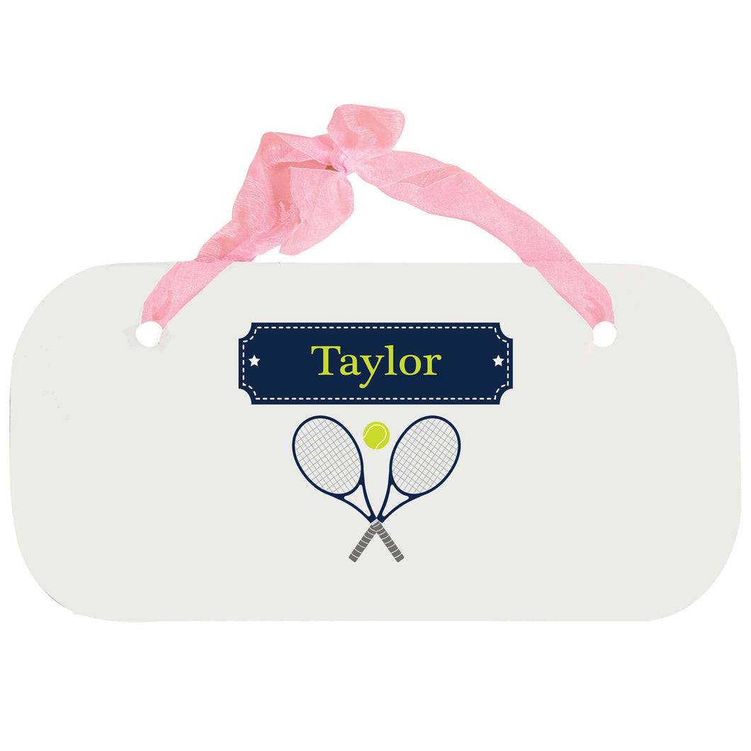 Personalized Girls Wall Plaque with Tennis design