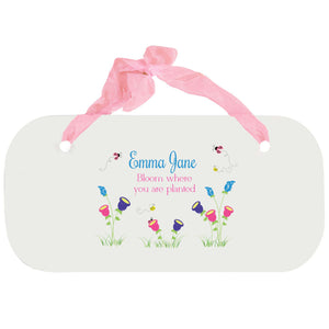 Personalized Girls Wall Plaque - English Garden
