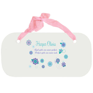 Personalized Girls Wall Plaque - Florascope