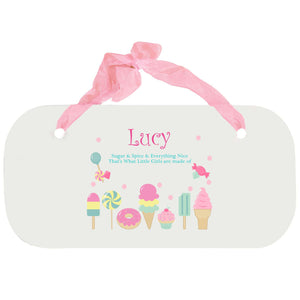 Personalized Girls Wall Plaque - Sweet Treats