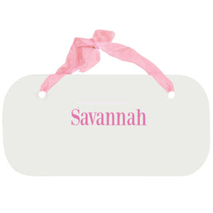 Personalized Girls Wall Plaque - Name Only