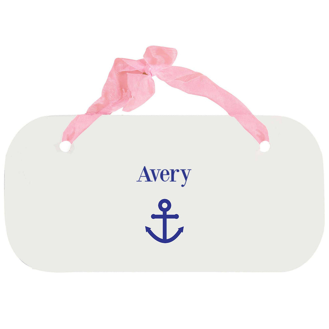 Personalized Girls Wall Plaque with Single Anchor design