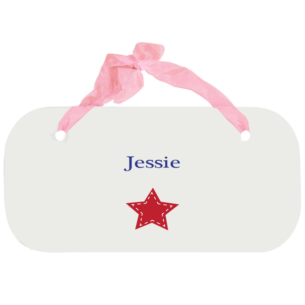 Personalized Girls Wall Plaque with Single Star design