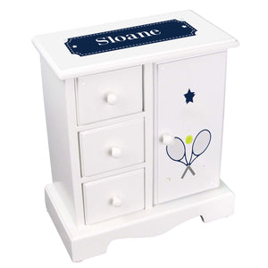 Personalized Jewelry Armoire with Tennis design