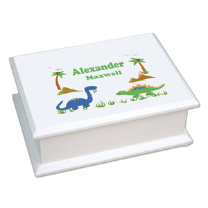Lift Top Jewelry Box - Dinosaur