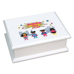 Lift Top Jewelry Box - African American Superhero