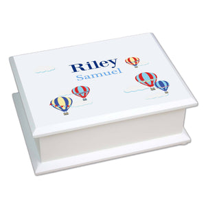Personalized Lift Top Jewelry Box with Hot Air Balloon Primary design