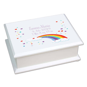 Lift Top Jewelry Box - Rainbow