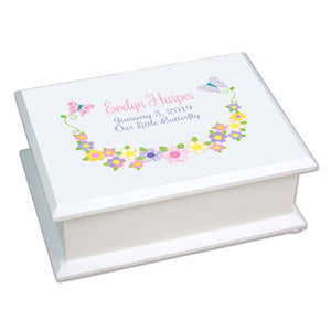 Lift Top Jewelry Box - Butterfly Garland Pastel