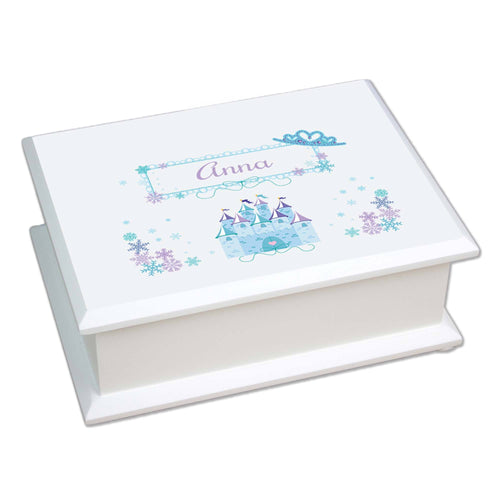 Personalized Lift Top Jewelry Box with Ice Princess design