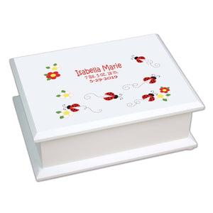 Lift Top Jewelry Box - Red Ladybugs