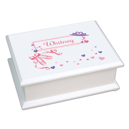 Personalized Lift Top Jewelry Box with Ballet Princess design