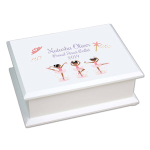 Lift Top Jewelry Box - African American Ballerina