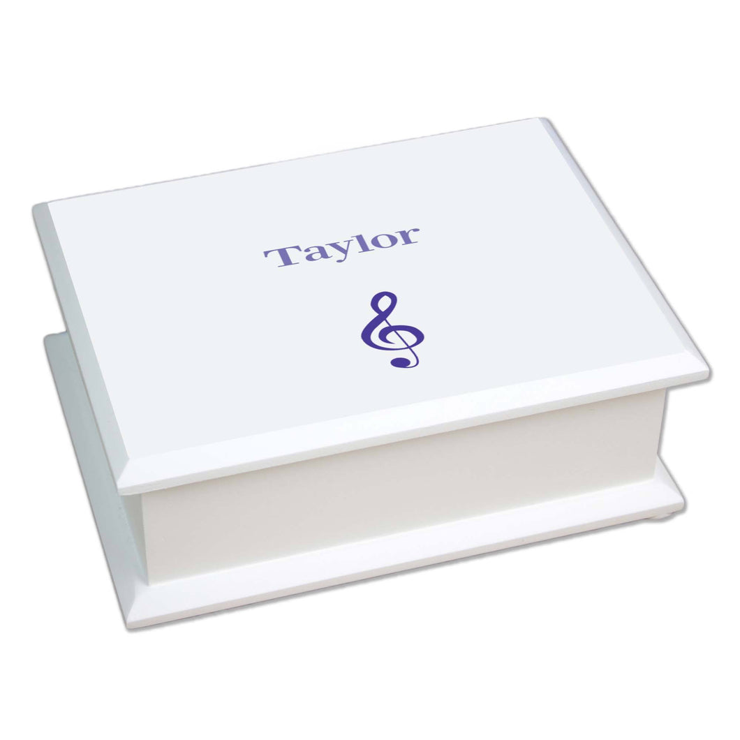 Personalized Lift Top Jewelry Box with Single Music design