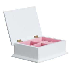 Lift Top Jewelry Box - Pink Gray Floral Garland