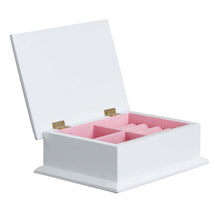 Lift Top Jewelry Box - Single Pink Footprint