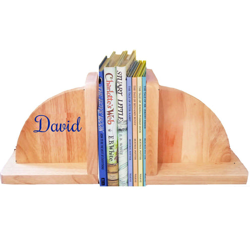 Natural Wood Bookends Name Only