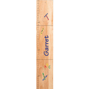 Personalized Natural Growth Chart With Crayon Design