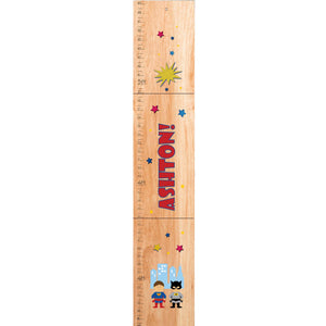 Personalized Natural Growth Chart With Superheros Design