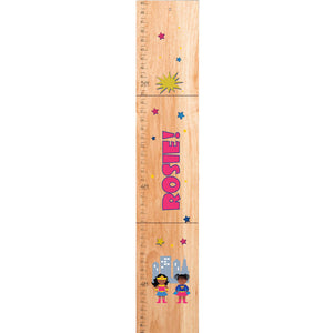 Personalized Natural Growth Chart With Supergirls African American Design