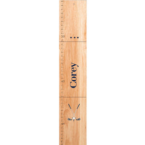 Personalized Natural Growth Chart With Golf Design