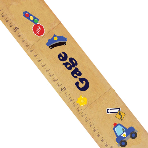 Personalized Natural Growth Chart With Police Design