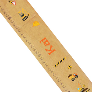 Personalized Natural Growth Chart With Construction Design