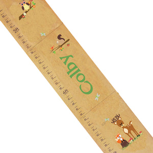 Personalized Natural Growth Chart With Woodland Green Design