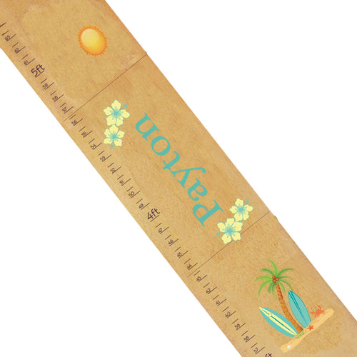 Personalized surfboard Natural Growth Chart