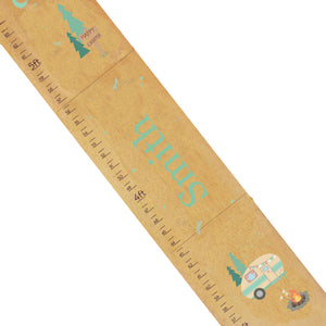 Personalized Natural Growth Chart With Camp S'More Design