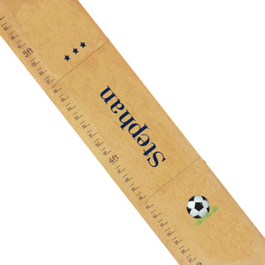 Personalized Natural Growth Chart With Soccer Design