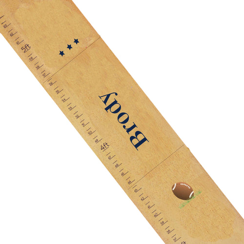 Personalized Natural Growth Chart With Football Design