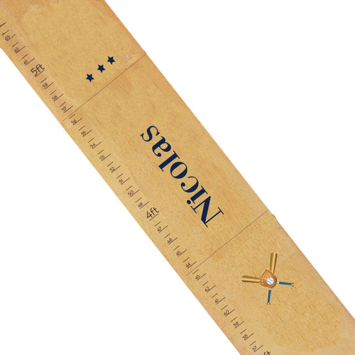 Personalized Natural Growth Chart With Baseball Design