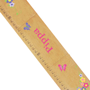 Personalized Natural Growth Chart With Butterfly Garland Hot Design