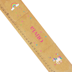 Personalized Natural Growth Chart With Unicorn Design