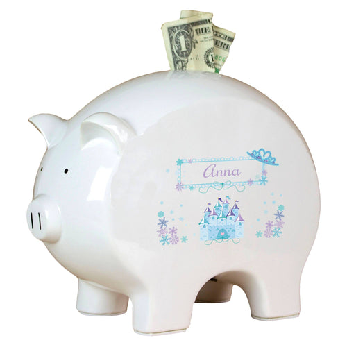 Personalized Piggy Bank with Ice Princess design
