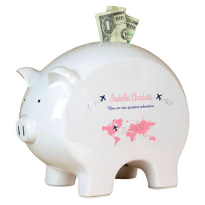 Personalized Adventure Fund Piggy Bank