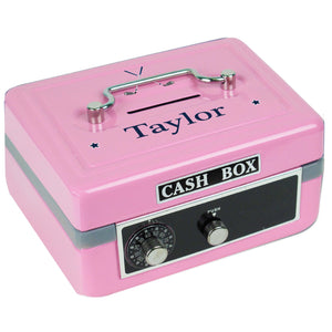 Personalized Golf Childrens Pink Cash Box