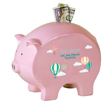 Pink Piggy Bank - Hot Air Balloon Pastel