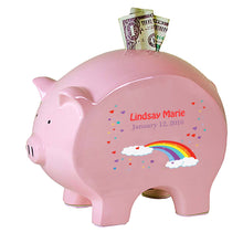 Personalized Flat Piggy Bank