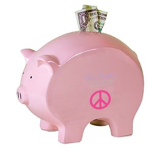 Pink Piggy Bank - Single Peace