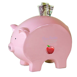 Pink Piggy Bank - Single Apple