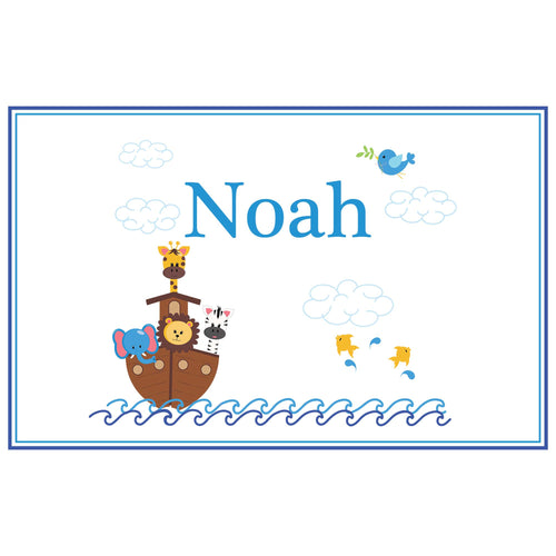 Personalized Placemat with Noahs Ark design