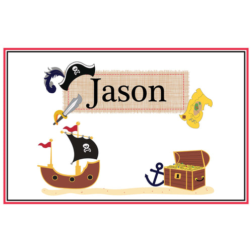 Personalized Placemat with Pirate design