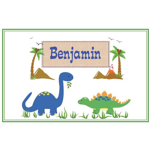 Personalized Placemat with Dinosaurs design