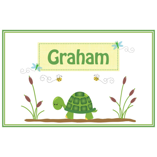 Personalized Placemat with Turtle design