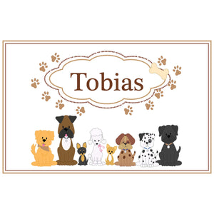 Personalized Placemat with Brown Dogs design